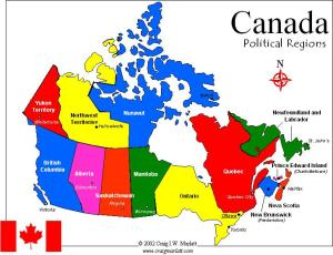 Electoral College map of Canada