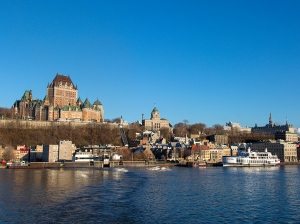 View of Quebec City across the St. Lawrence