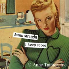 I keep score