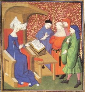 Christine de Pizan schooling the menz.