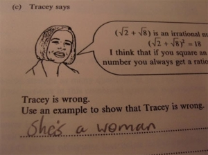 Tracey is wrong