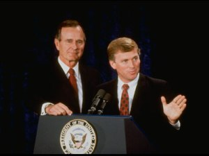 George H.W. Bush and Dan Quayle