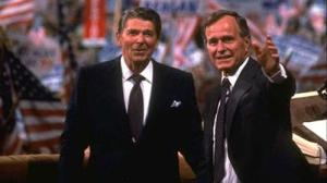 Ronald Reagan and George H.W. Bush
