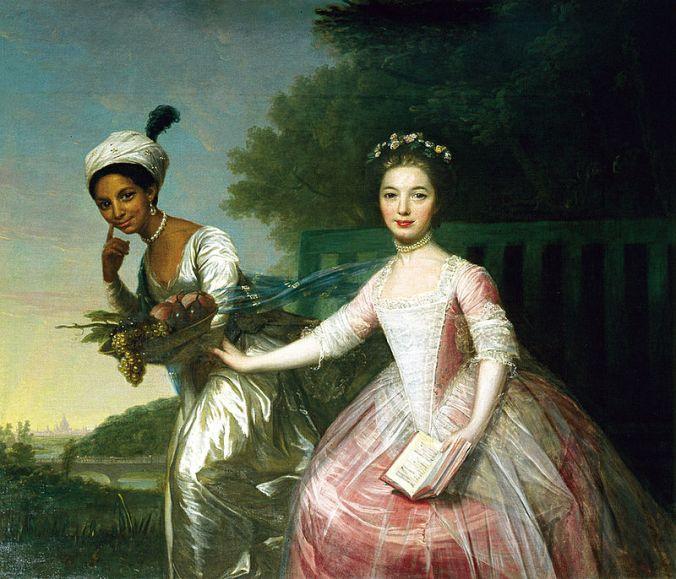 Johann Zoffany, Dido Elizabeth Belle and Lady Elizabeth Murray, 1779.