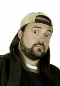 "Looked like this, except with snapback cap forward. (This is actually Kevin Smith, aka ""Silent Bob."")"