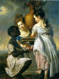 Joseph Wright of Derby, A Conversation of Girls (Two Girls with their Black Servant), exhibited 1770, private collection.