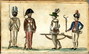 Jean Baptiste-Antoine De Verger, American Soldiers at the Siege of Yorktown, 1781.