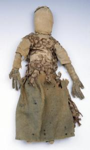 Bangwell Putt rag doll, in the collection of Memorial Hall, Pocumtuck Valley Memorial Association, Deerfield, Mass.