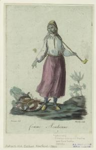 """Art and Picture Collection, The New York Public Library. """"Femme acadienne."""" New York Public Library Digital Collections. Accessed October 16, 2016."""