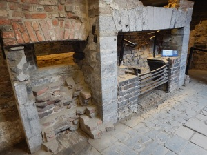 Kitchen in the Chateau Saint-Louis achaeological dig, Parks Canada.