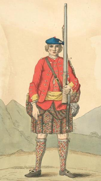 Soldier of the 42nd Regiment, 1742, courtesy of Wikimedia Commons