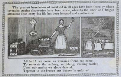 Boston trade card for North American Electric Washing Fluid, 1851, courtesy of the American Antiquarian Society
