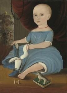 Baby in Blue, ca. 1845, William Matthew Prior. National Portrait Gallery