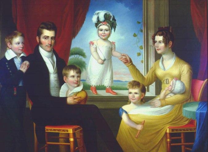 The Ephraim Hubbard Foster Family, 1824, by Ralph E.W. Earl. Cheekwood Museum of Art, Nashville, TN.